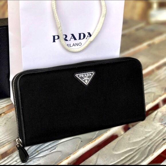 2e3c4cdf418e39 Authentic Prada Nylon Zip Around Wallet - Black. M_5beb1e715c4452b6204f5cd3